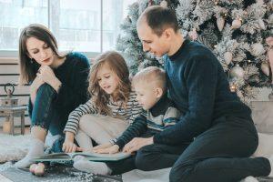 家族団欒の写真